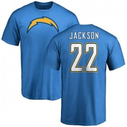 Men's Justin Jackson Los Angeles Chargers Name & Number T-Shirt - Blue