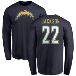 Men's Justin Jackson Los Angeles Chargers Name & Number T-Shirt - Navy -