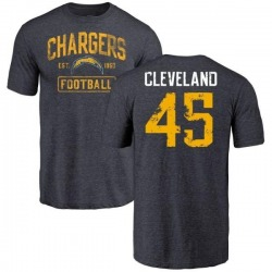 Youth Asante Cleveland Los Angeles Chargers Distressed Name & Number Tri-Blend T-Shirt - Navy