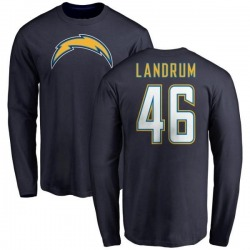 Youth Chris Landrum Los Angeles Chargers Name & Number T-Shirt - Navy -
